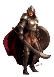 Female Knight by dcwj