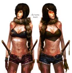 da sexy samurai twins by dcwj