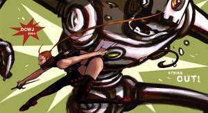 Strike out- Popbot fanart by dcwj
