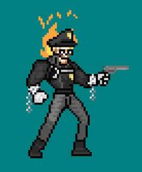 Inferno Cop Sprite Sheet by OneCallGat