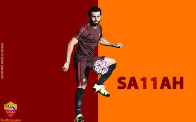 Mohmaed Salah [AS Roma - Wallpaper] by AbuKlila