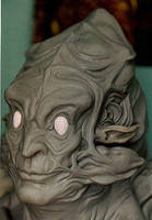 psychedelic alien sculpt by barbelith2000ad