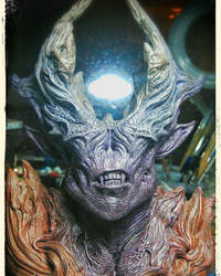 Painting demon resin bust by barbelith2000ad
