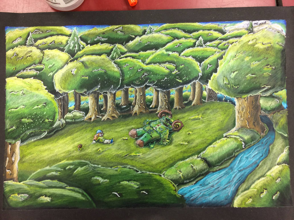 Fantasy Creature Prismacolor Drawing by Hand-DrawnTexan01