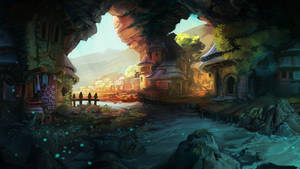 Cavern town by Domen-Art