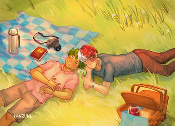 on the grass, kiss my a- by eggzumii