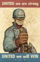 WWII Cap Propaganda Poster by jtchan