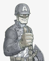 WWII Cap thumbs up by jtchan