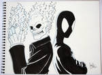 Ghost Rider and Symbiote Spider-Man - ECCC 2012 by jtchan