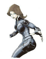 Black Widow, Agent of SHIELD by jtchan
