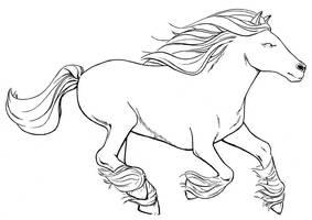 Horse runnin by jtchan