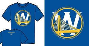 Warriors T-Shirt Idea - Bridge and W (Blue) by jtchan