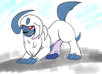 Absol Ready for Battle by Rhoark