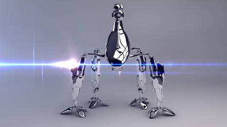 Chrome Cyborg by IDesignish