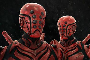 Cyborg Red Ninja by Shadowl360