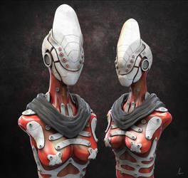 Red Cyborg by Shadowl360