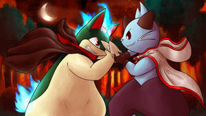 Commission - Scalchop clash by Lucky02-Overmaster