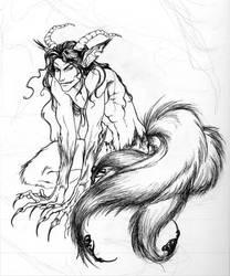Demon Lord: B+W by foxfur