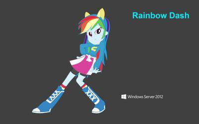 Rainbow Dash EQG inside Windows Server 2012 WP by Shing385629