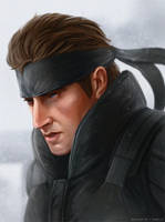 Solid Snake by SeeHangArt