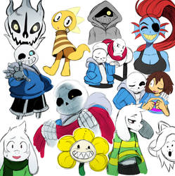 Undertale Doodles by ss2sonic