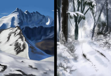 Snow Studies by Legendary-Darkness