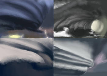 Wall Cloud Studies by Legendary-Darkness