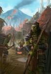 Orc Village by Montjart