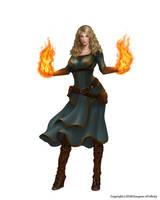 Fire wizard by Montjart