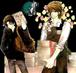 [RENDER] Kisa and Yukina Kou (Sekaiichi Hatsukoi) by crownprince-chan