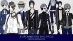 [8 PNG PACK] Ciel and Sebastian (Kuroshitsuji) by crownprince-chan