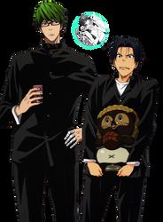 [RENDER] Midorima and Takao (Kuroko no Basket) by crownprince-chan