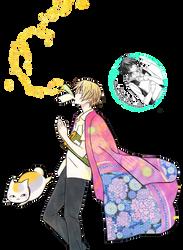[RENDER] Natsume and Madara (Natsume Yuujinchou) by crownprince-chan