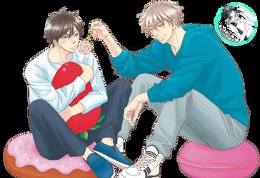 [RENDER] Kaburagi and Onoe (Ameiro Paradox) by crownprince-chan