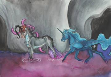 Luna and Parthus - Rocket  to Insanity by SagaStuff94