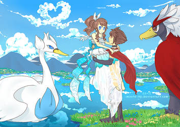 The Braviary Prince and Swanna Princess by Imouto-Thi