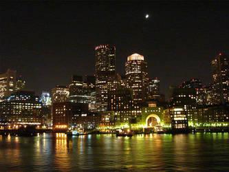 Boston at Night by KatTheFoxtaur