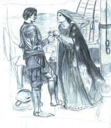 Tristan and Isolda (study) by RaczTamas