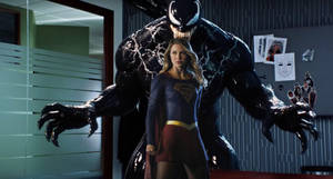 Venom Getting Ready To Eat Supergirl. by MissThor