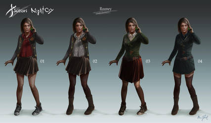 Project Scissors: NightCry - Rooney Design 01 by Chris-Darril