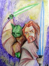 Yoda and Obi-Wan by illicitjedi