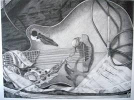 Guitar Still Life by Amandriel