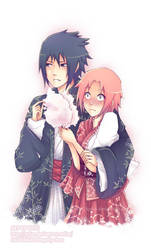 SS SasuSaku for polly-chan by Quiss