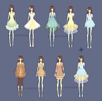 o3o fashion sketches by Quiss