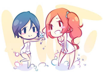 Cute bath time sketchie by Quiss