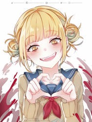 Cute crazy Toga heart by Quiss