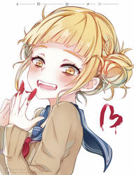 Cute crazy Toga smile by Quiss