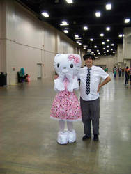 Hello kitty with dude. by PSOWILL