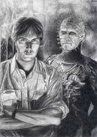 Clive Barker and his creature by Elodie76