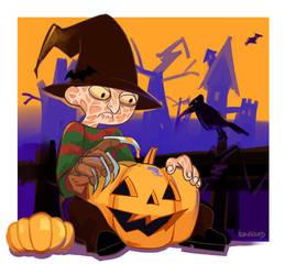 Halloween Freddy by EvnfreedRR